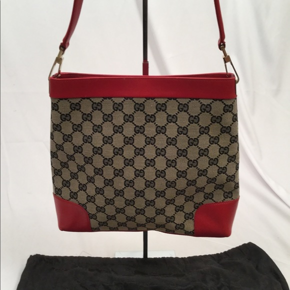 b2c92367b Gucci Bags   Sherry Blue White Red Leather Shoulder Bag   Poshmark